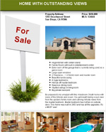 For Sale Sign Flyer